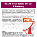 Health Roundtable Events: A Summary