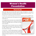 Presentation: Mental Health