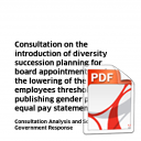 Consultation on the Introduction of Succession Planning for Board Appointments - Analysis and Scottish Government Response – February 2016 -